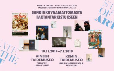 'Sanoinkuvaamattomasta faktantarkistukseen' aukeaa Aineen ja Kemin taidemuseoissa