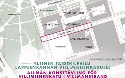 Yleinen taidekilpailu Lappeenrannan Villimiehenkadulle